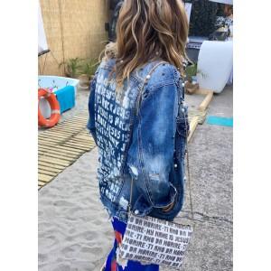 Jeans Jacket Jesus is Rock!
